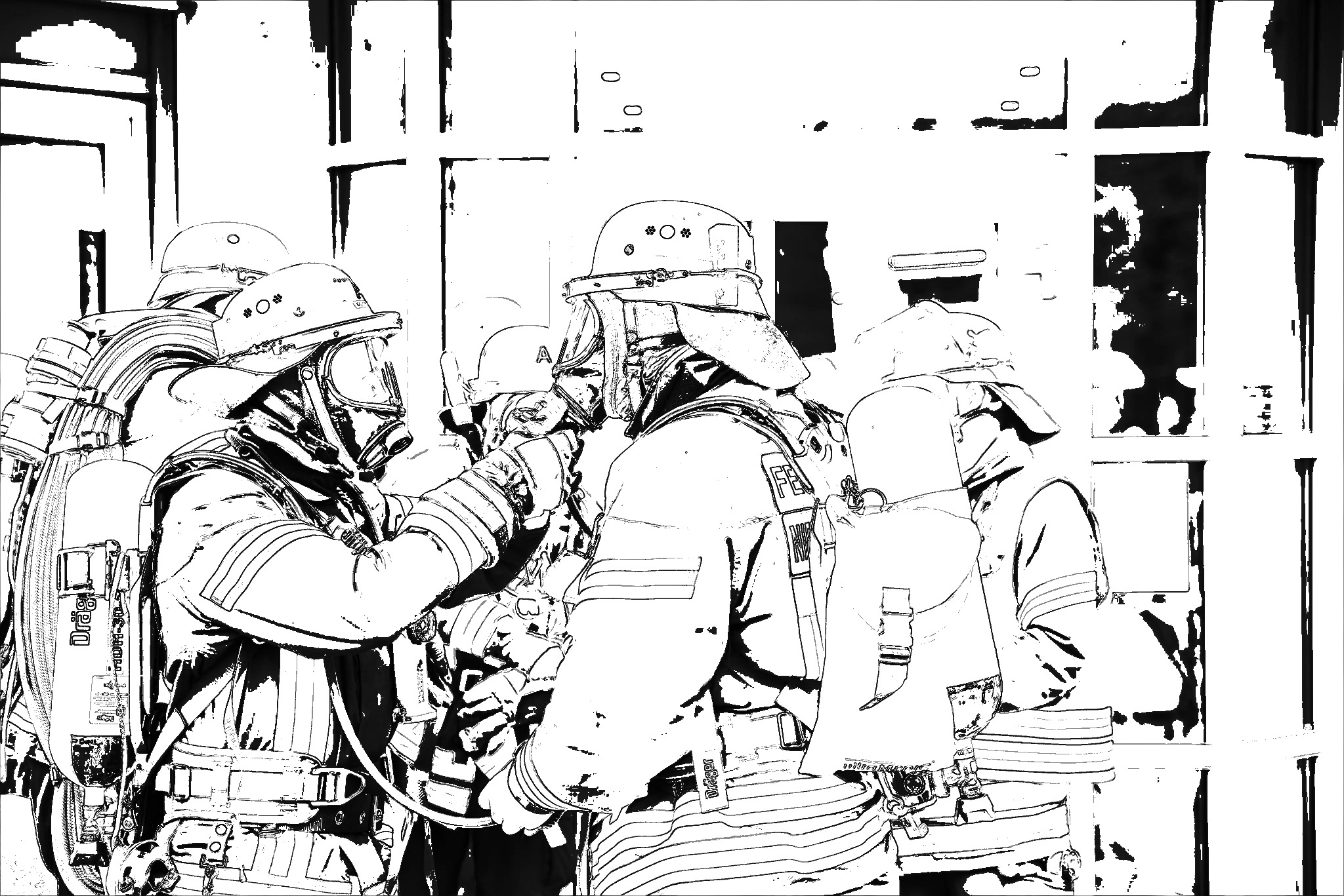 ausmalbilder für den nachwuchs - freiwillige feuerwehr